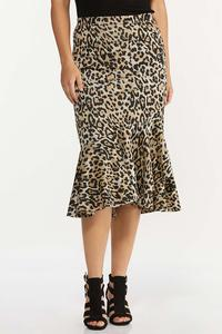 Flounced Leopard Skirt