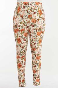 Plus Size Spice Floral Leggings