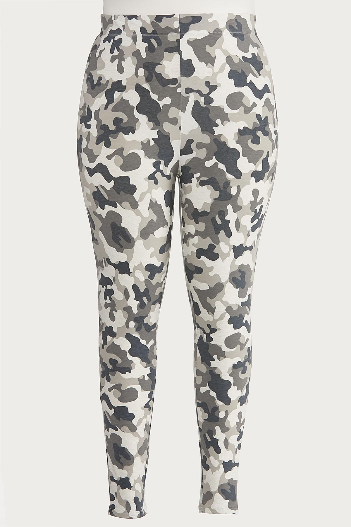 Plus Size Gray Camo Leggings