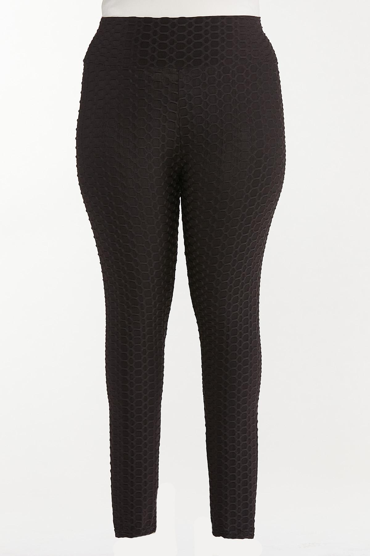 Plus Size Textured Leggings