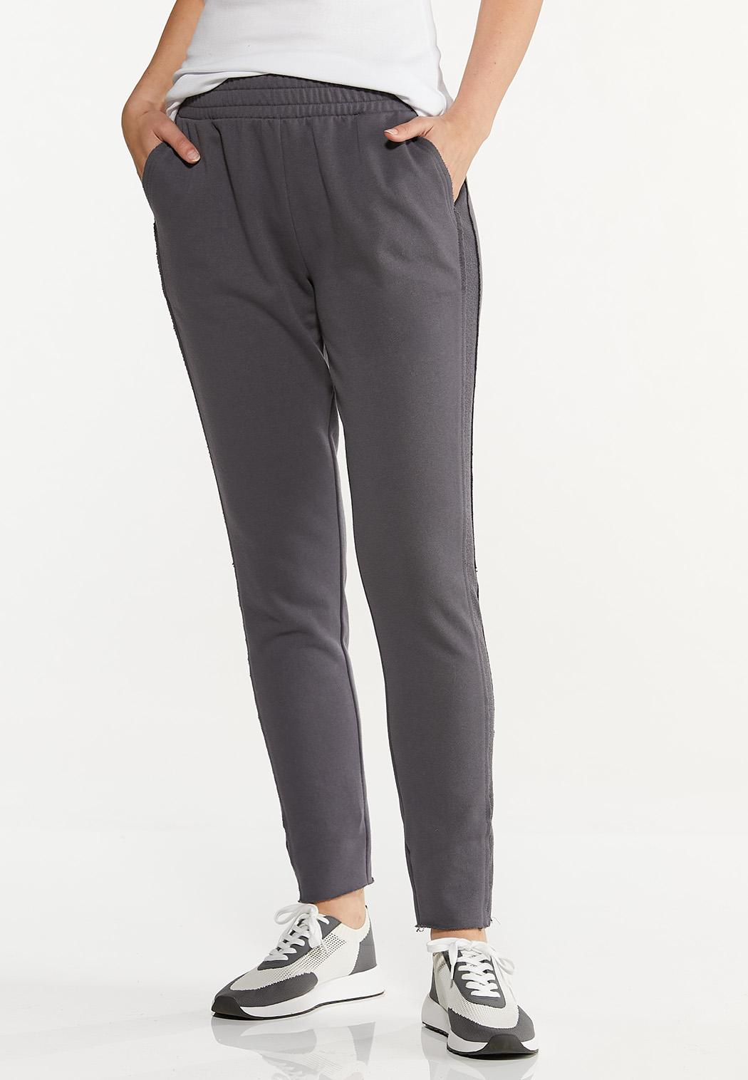 Petite Contrasting French Terry Pants