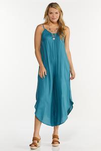 Plus Size Blue Genie Jumpsuit