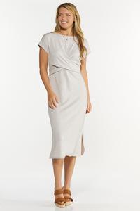 Wrap Waist Midi Dress