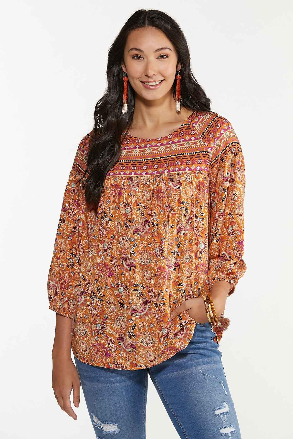 Plus Size Tribe Floral Poet Top