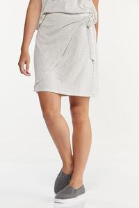 Stripe Faux Wrap Skirt