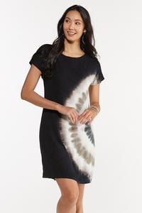 Plus Size Tie Dye Swirl Shirt Dress