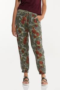 Camo Floral Joggers