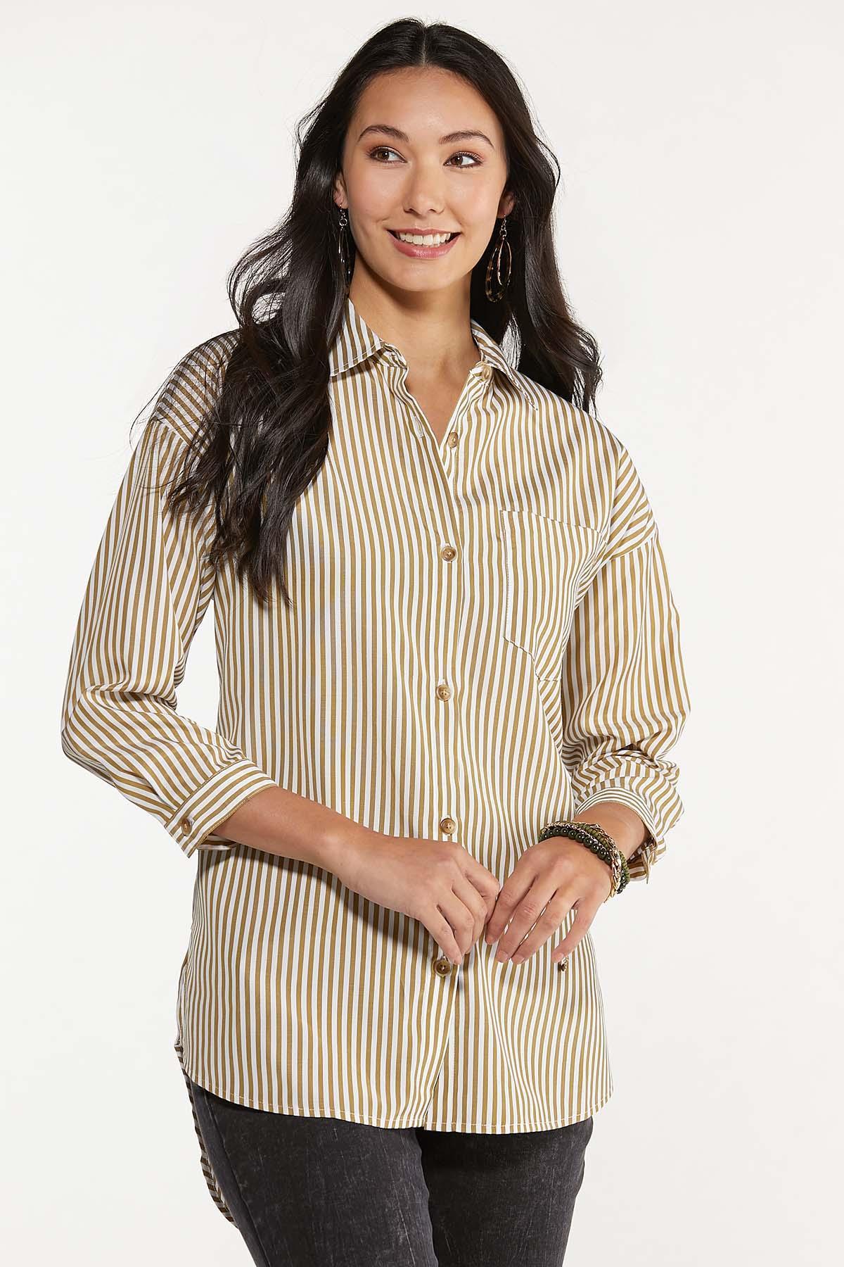 Plus Size Oversized Stripe Tunic