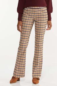 Petite Plaid Bengaline Pants