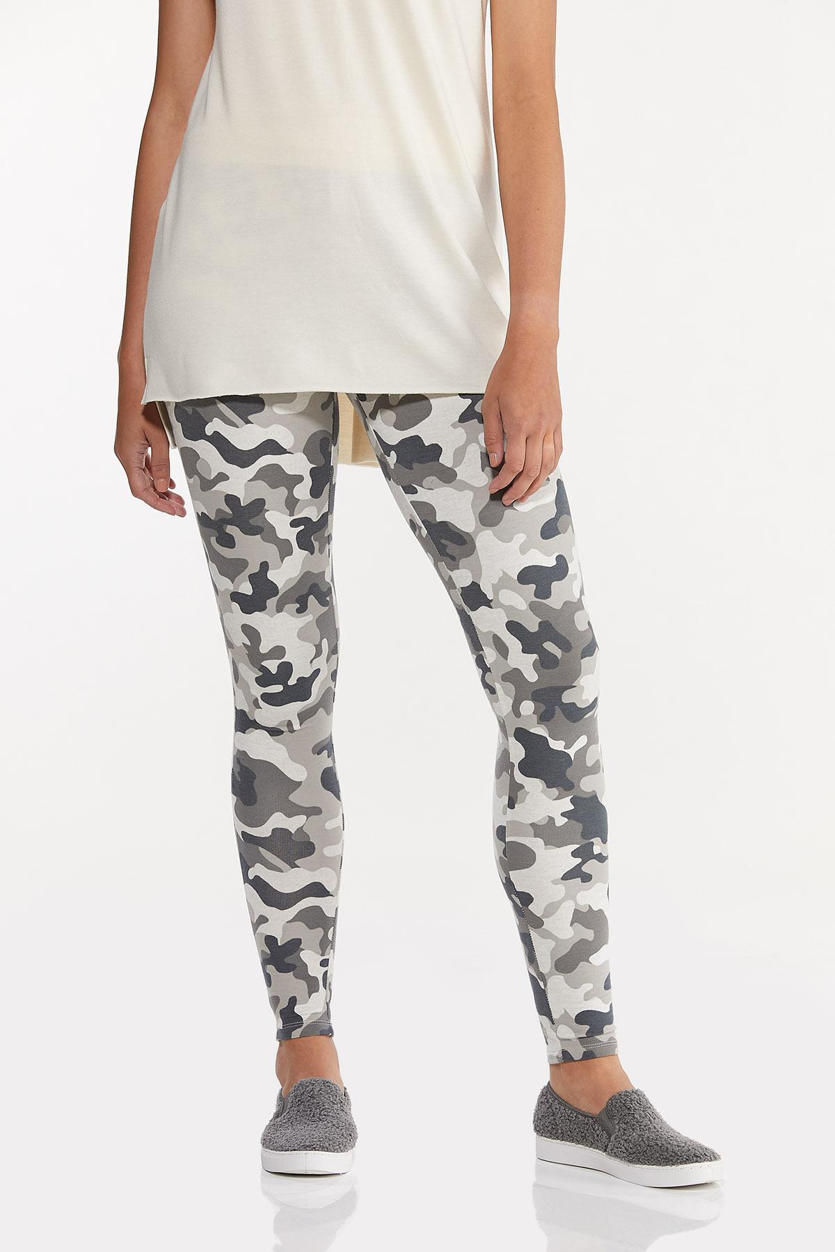 Gray Camo Leggings