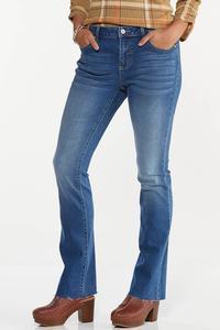 Petite Bootcut Raw Hem Jeans
