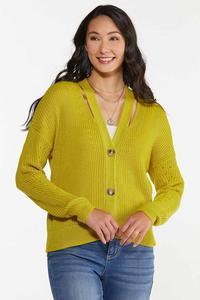 Cutout Cardigan Sweater