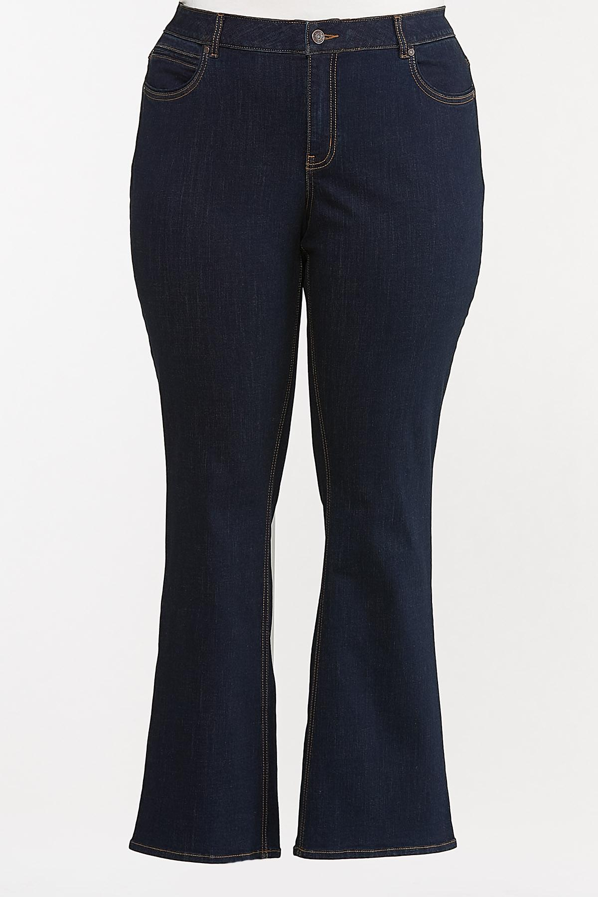 Plus Petite Dark Bootcut Jeans