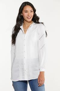 Plus Size Lace Trim Tunic
