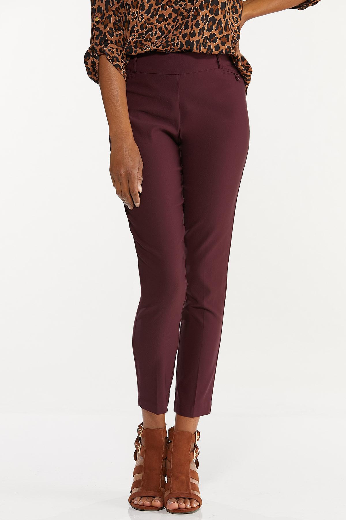 Solid Bengaline Slim Pants