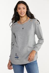 Gray Distressed Sweatshirt