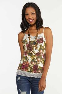 Plus Size Floral Lace Cami