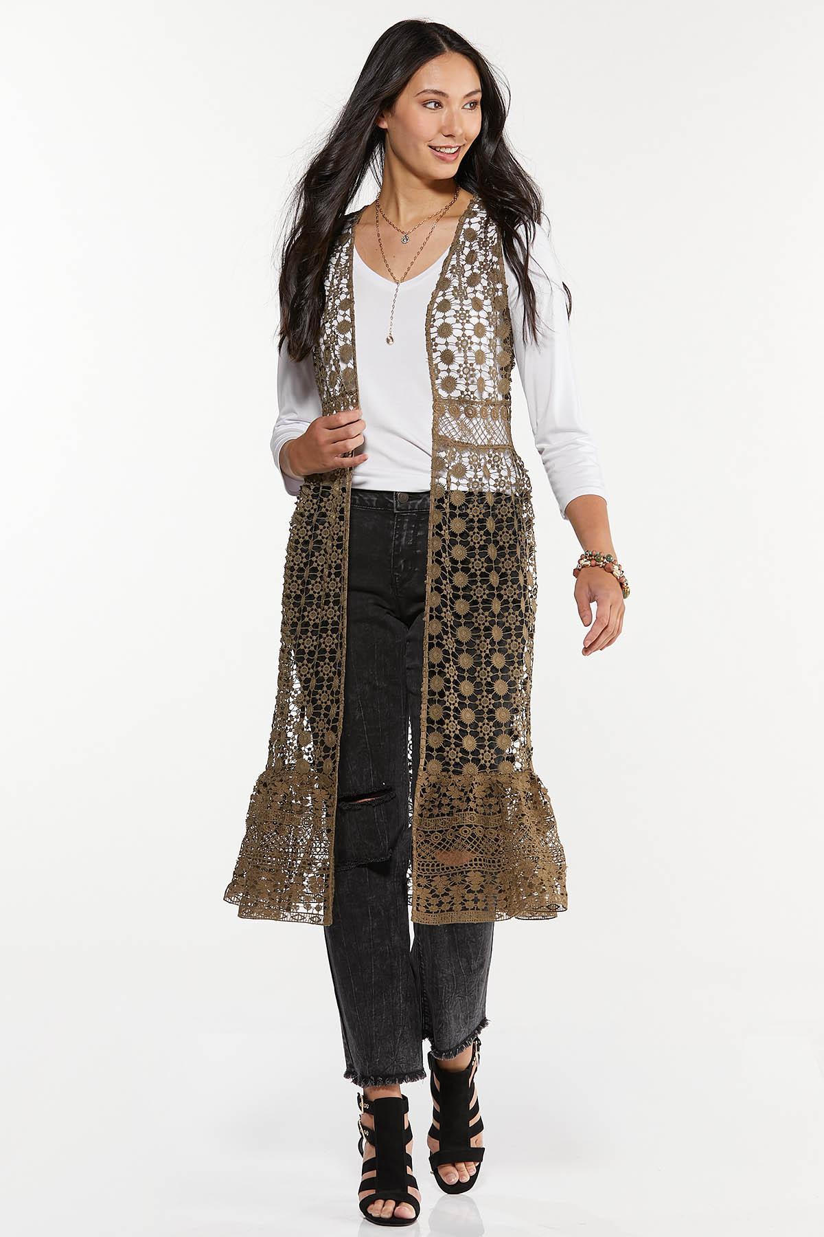 Allover Crochet Vest
