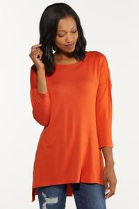 Plus Size Classic Solid Tunic
