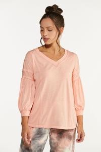 Plus Size Solid V-Neck Lounge Tee