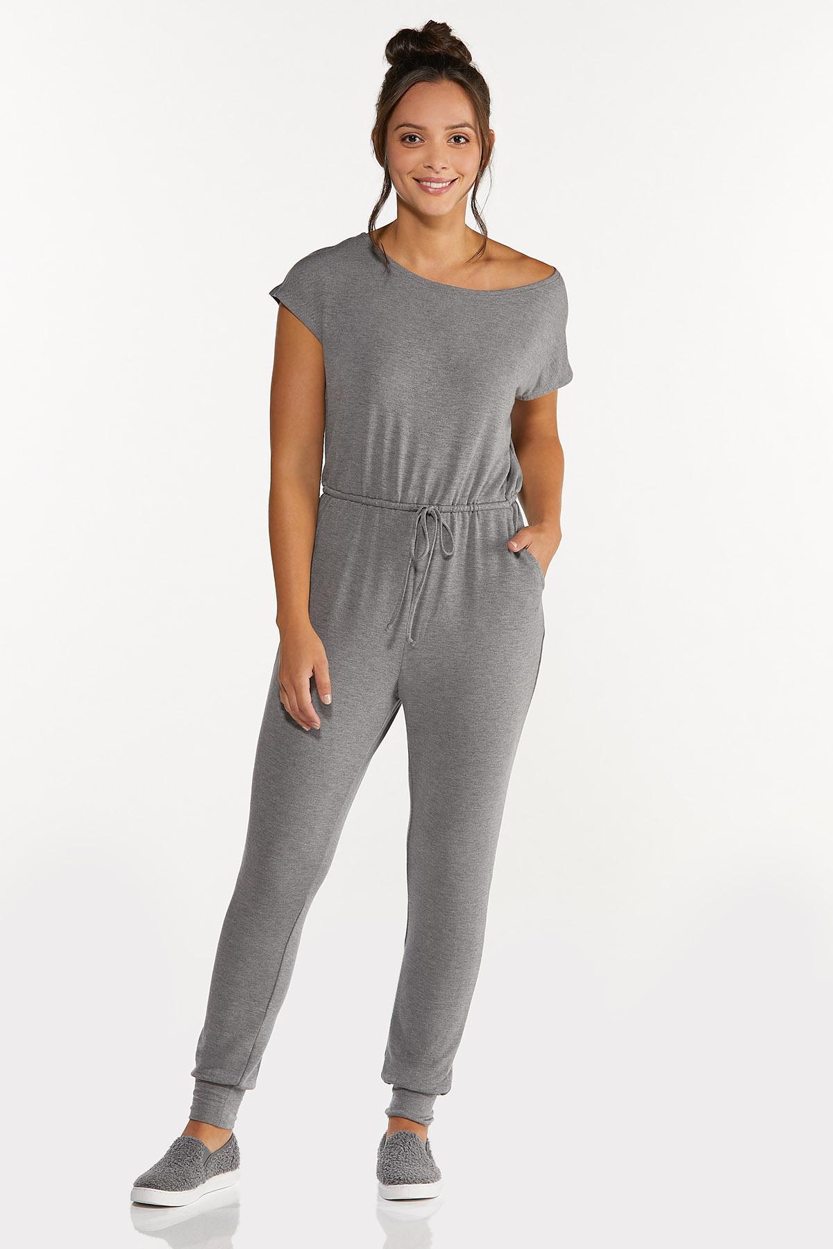 Plus Size Slouch Shoulder Jumpsuit
