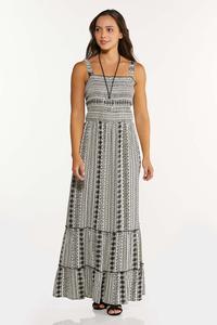 Plus Size Smocked Maxi Dress