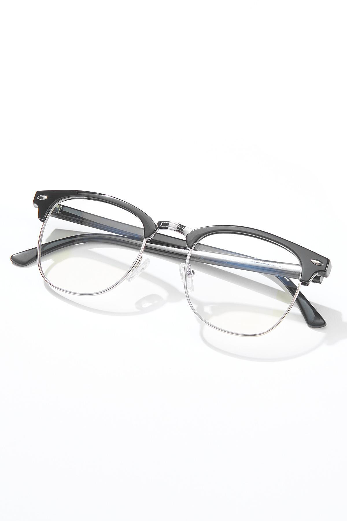 Black Temple Blue Light Glasses