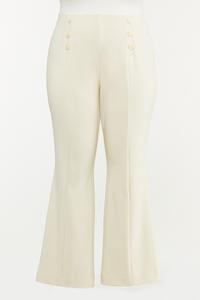 Plus Petite Sailor Button Pull-On Pants