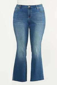 Plus Size Bootcut Raw Hem Jeans