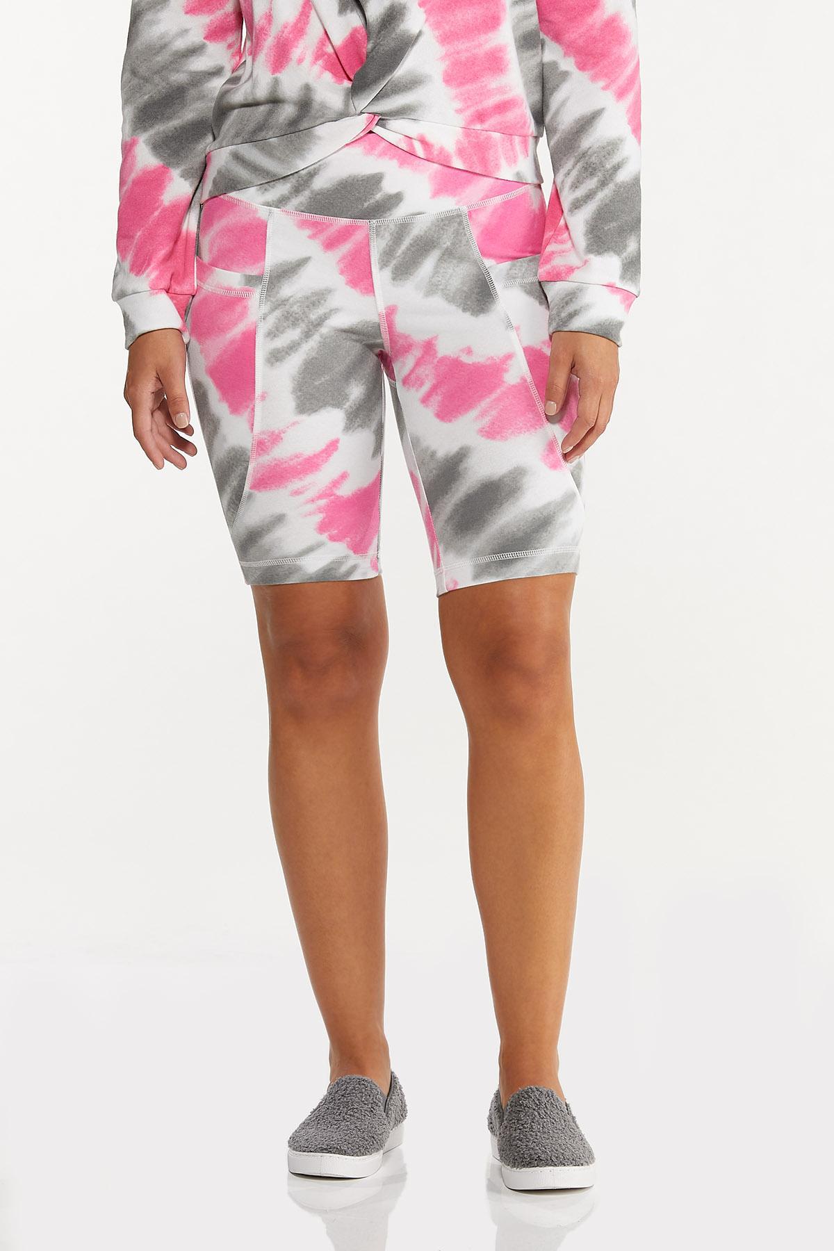 Pink Tie Dye Biker Shorts