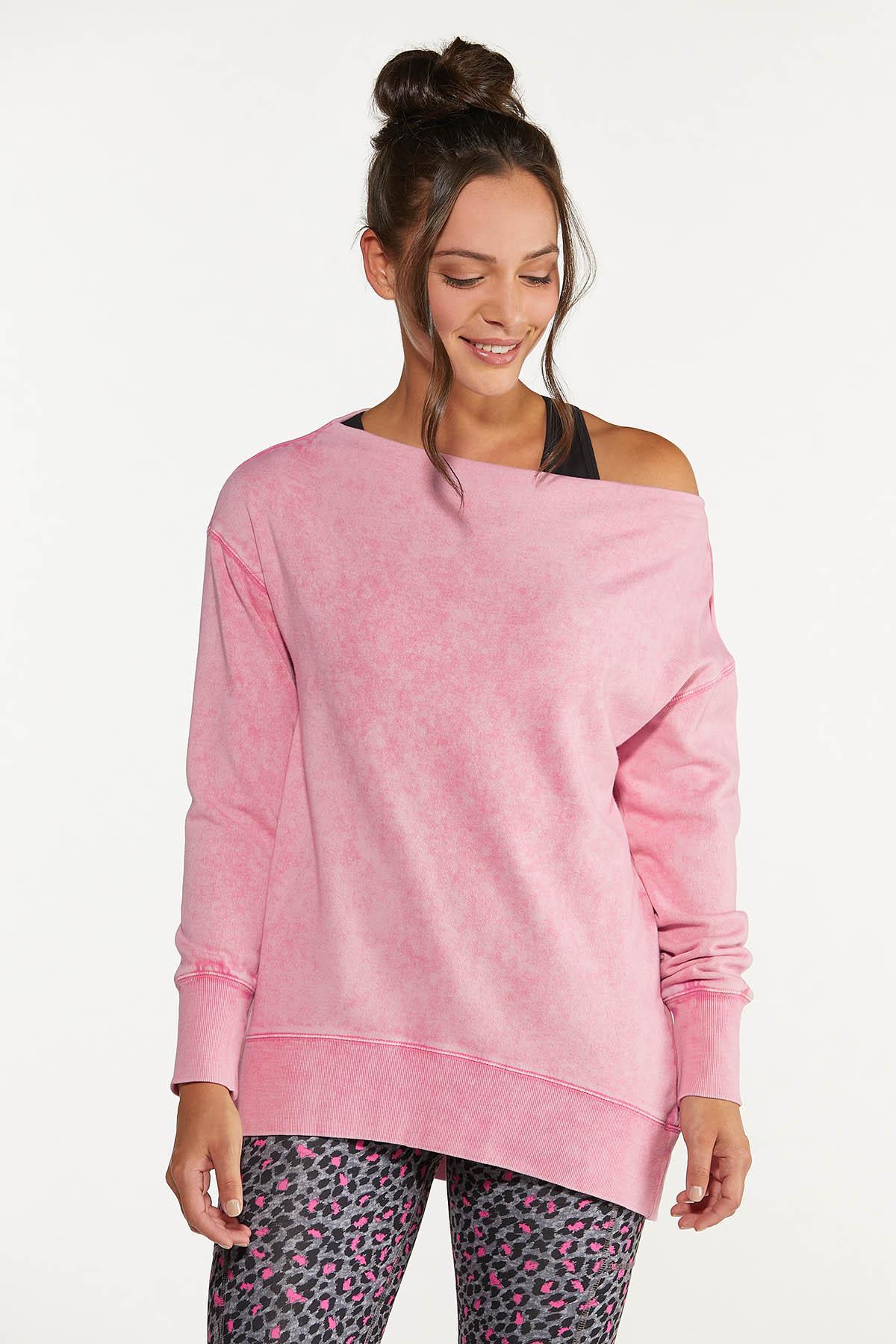 Plus Size Off Shoulder Sweatshirt
