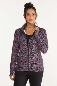 Plus Size Pink Leopard Sweatshirt