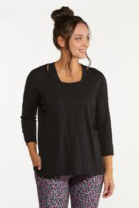Plus Size Relaxed Raw Edge Top
