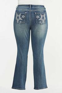 Plus Size Star Studded Bootcut Jeans