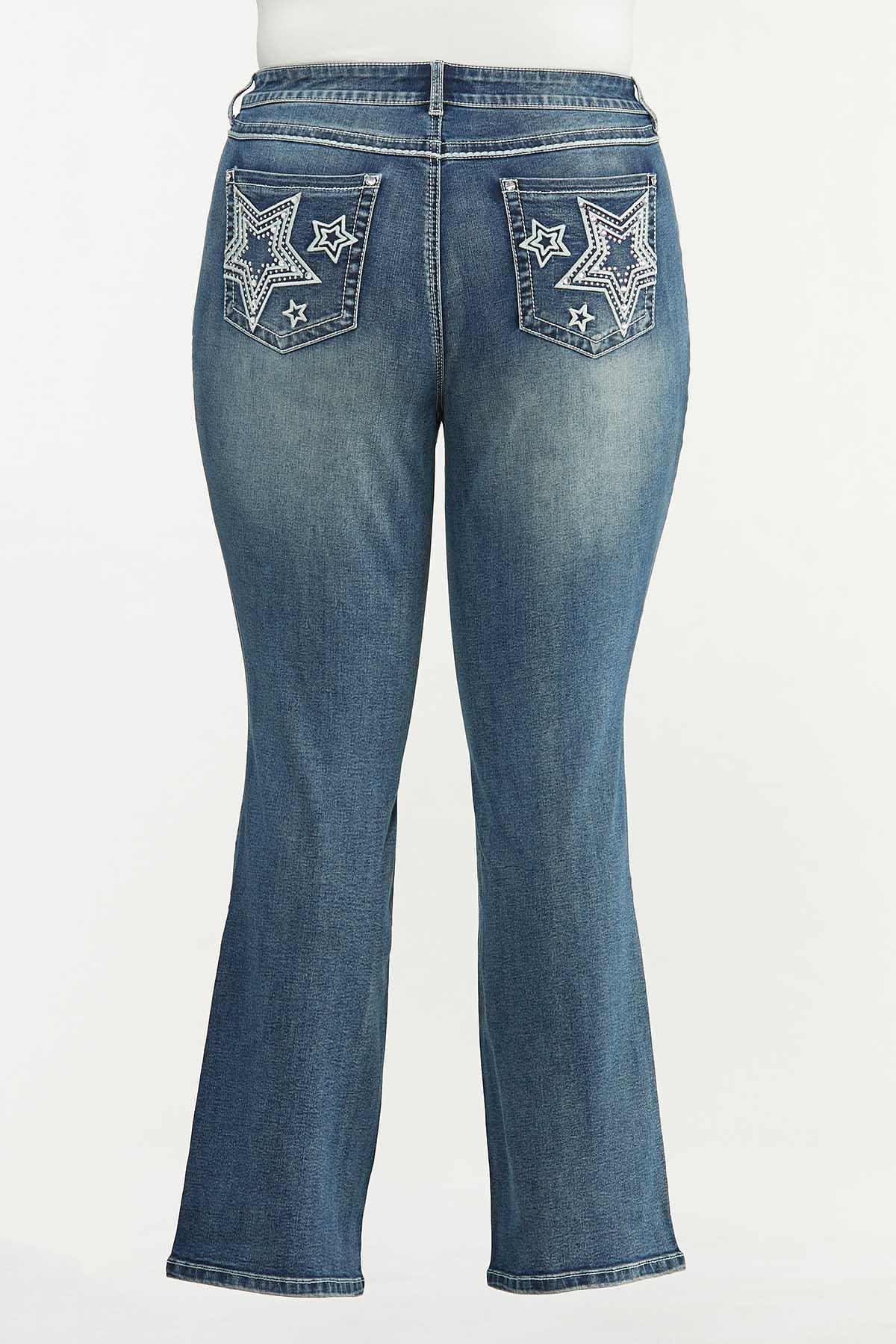 Plus Petite Star Studded Bootcut Jeans