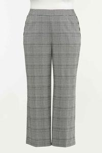 Plus Size Houndstooth Pants