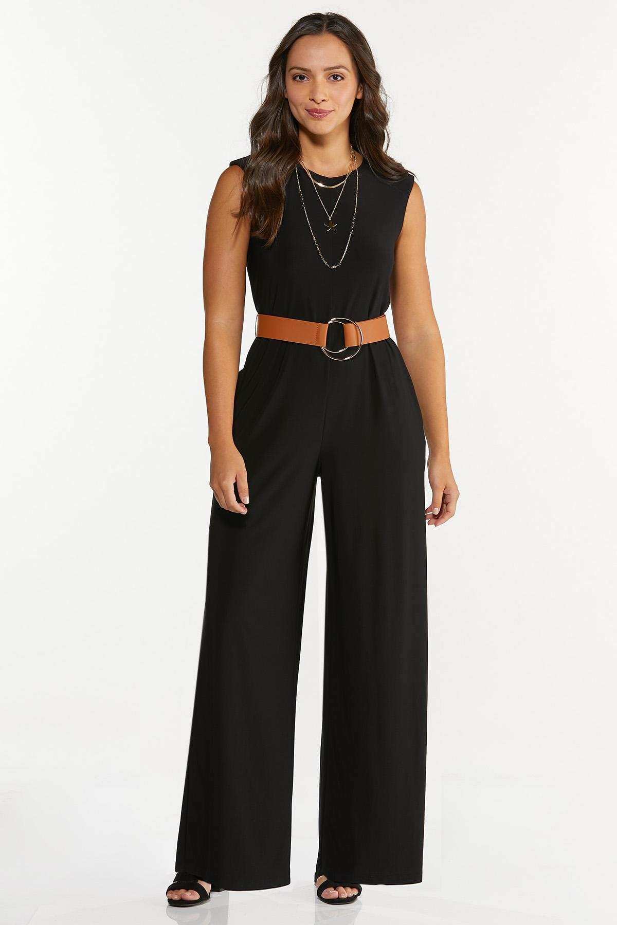 Plus Size Belted Jumpsuit