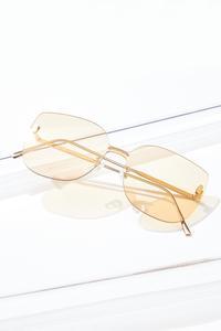Gold Rimless Sunglasses
