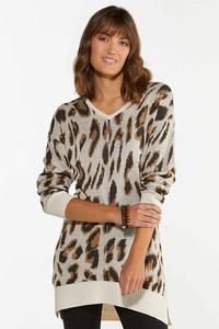 Leopard Tunic Sweater