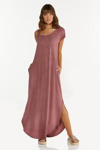 Plus Size One Shoulder Maxi Dress