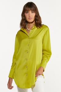 Plus Size Twist Of Lime Tunic