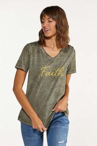 Plus Size Beaded Faith Tee