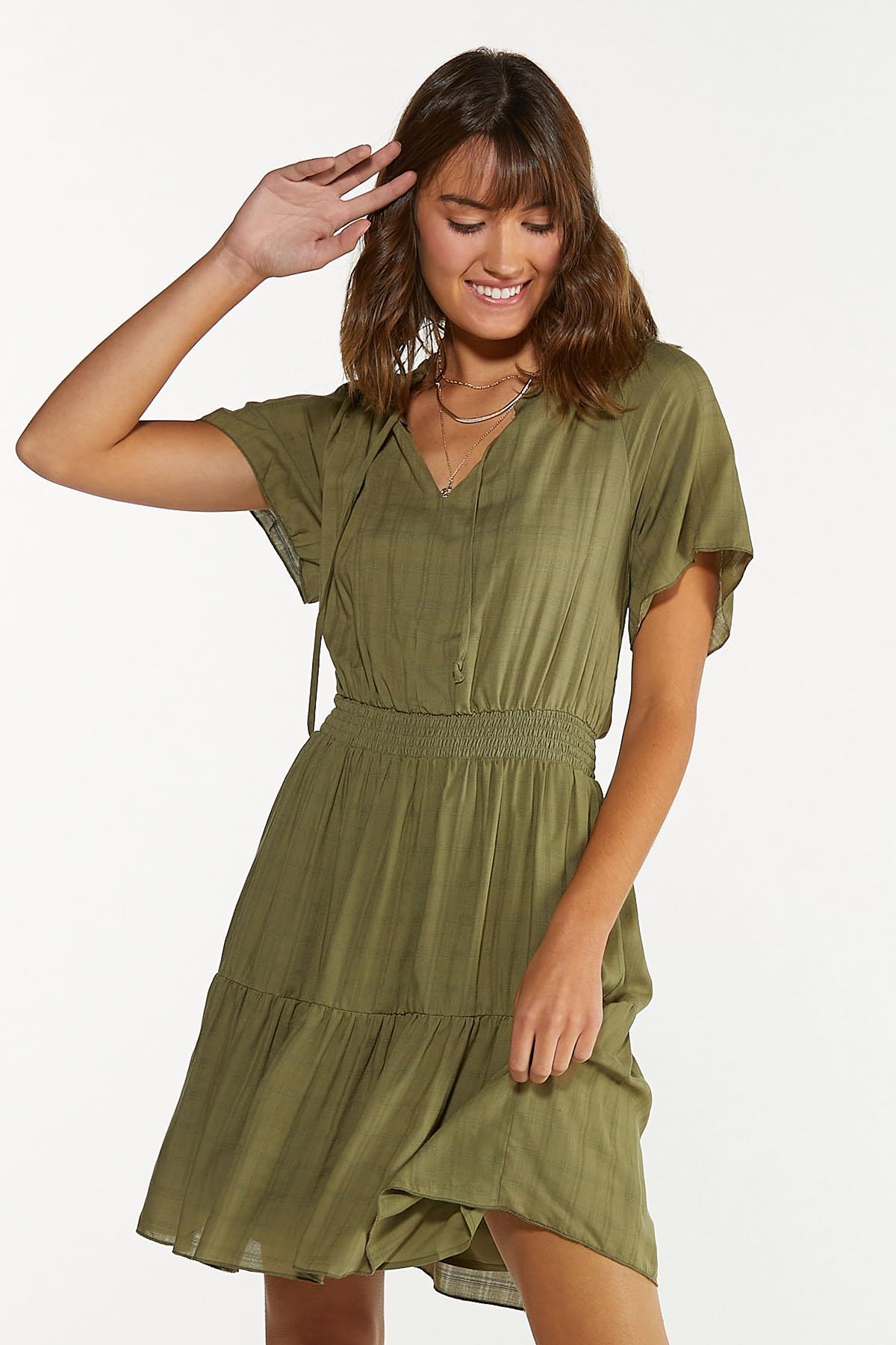 Olive Smocked Dress