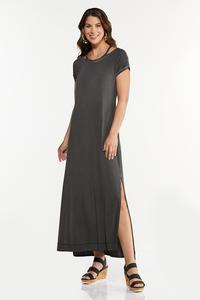 Plus Size Cutout Tee Shirt Maxi Dress