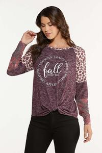Plus Size Twisted Fall Favorites Top