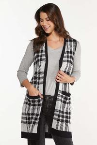 Houndstooth Sweater Vest