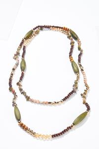 Neutral Layered Bead Necklace
