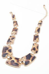 Chunky Leopard Link Necklace