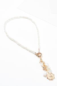 Pearl Coin Charm Necklace
