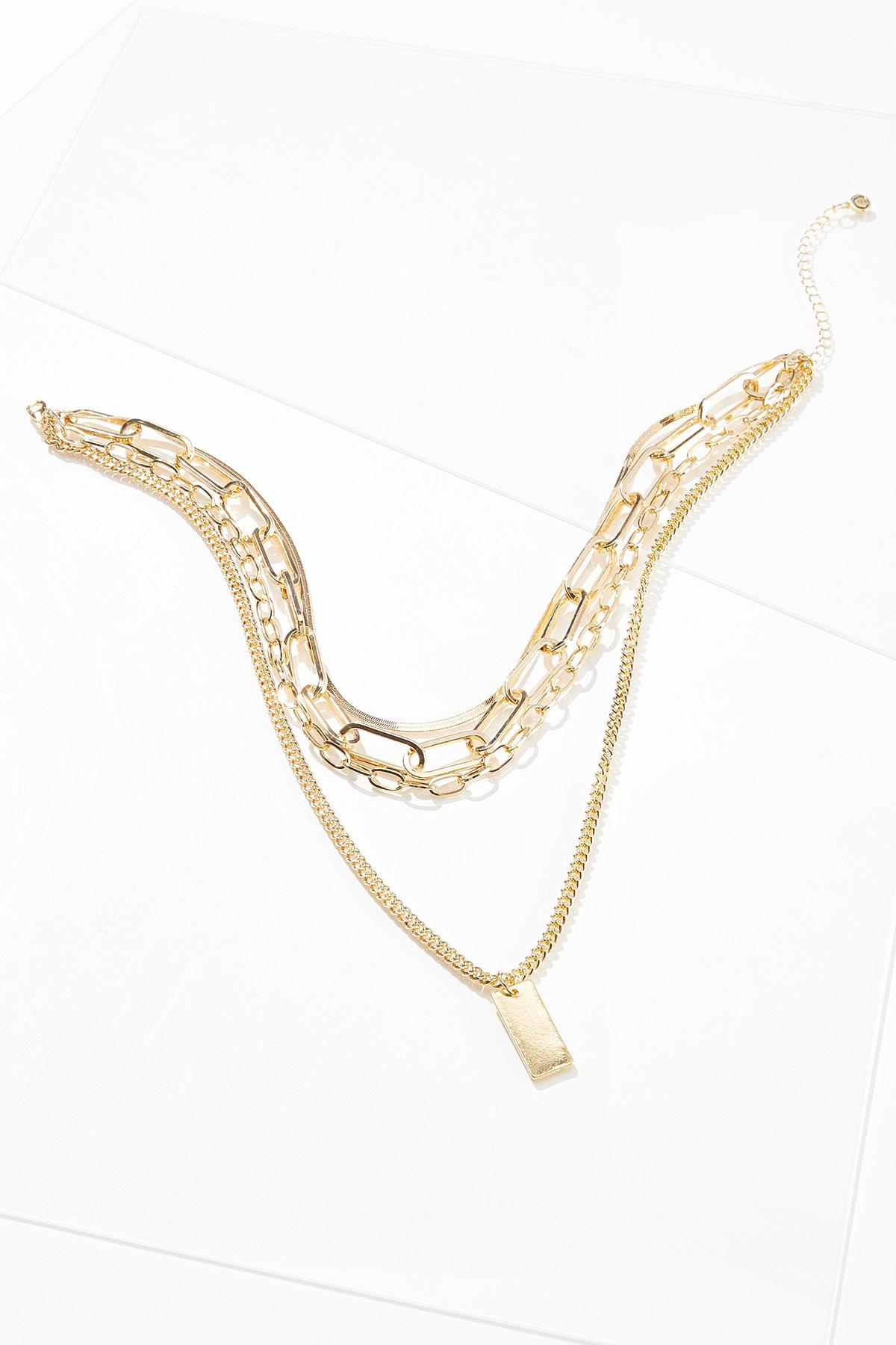 Layered Chunky Chain Necklace